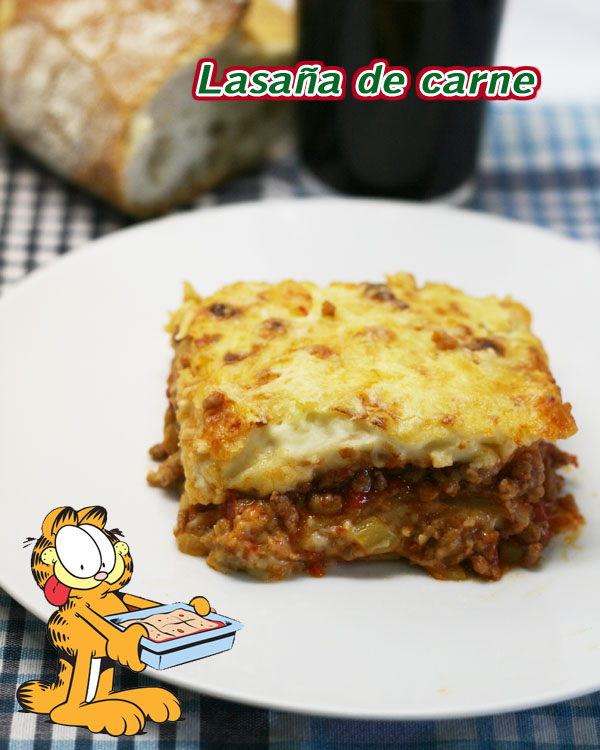 Receta simple lasana de carne