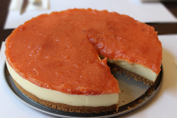 tarta queso y membrillo